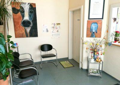 Wartezimmer der Tierarztpraxis Dres. Mäusl in Hengersberg